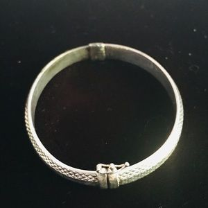 Sterling Silver Opening Bangle